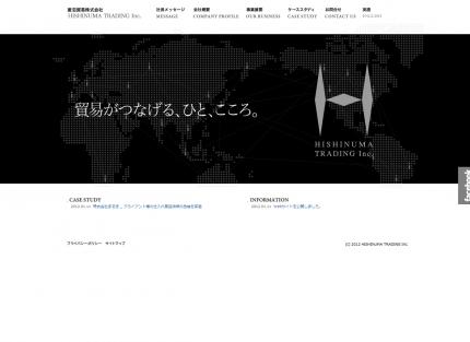 菱沼貿易様Webサイト